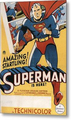 Superman, 1941 Metal Print by Everett
