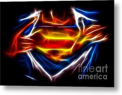 Superman Metal Print by Pamela Johnson