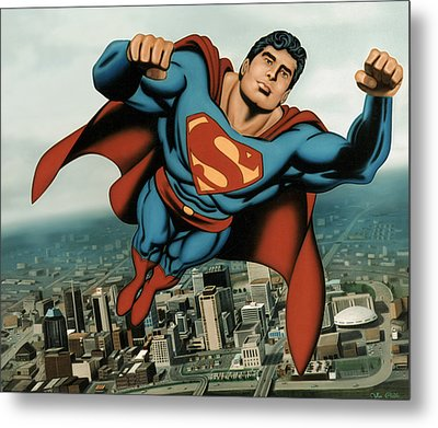 Superman Metal Print by Van Cordle