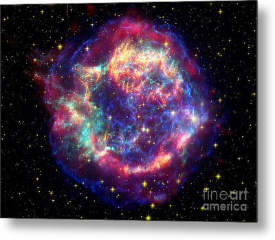 Supernova Remnant Cassiopeia A Metal Print by Stocktrek Images