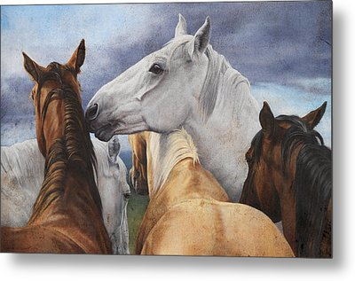 Support Group Metal Print by JQ Licensing