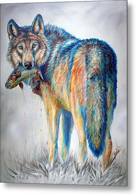 Survivor Metal Print by Teshia Art
