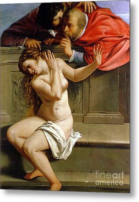 Susannah And The Elders Metal Print by Artemisia Gentileschi