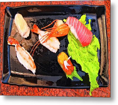Sushi Plate 2 Metal Print by Dominic Piperata