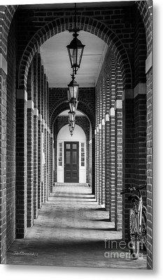 Sweet Briar College Benedict Hall Walkway Metal Print by University Icons