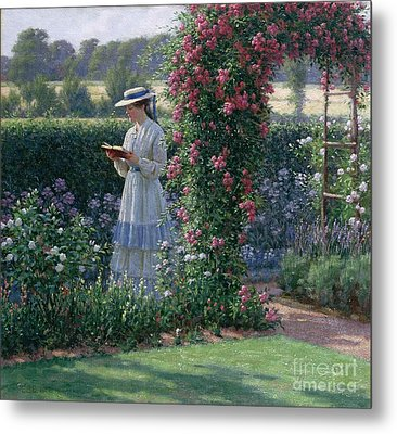 Sweet Solitude Metal Print by Edmund Blair Leighton