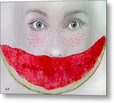 Smile Metal Print by Maria Hakobyan