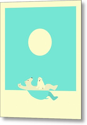 Swimming Lessons Metal Print by Jazzberry Blue