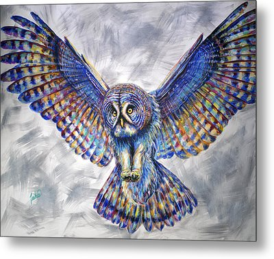 Swoop Metal Print by Teshia Art