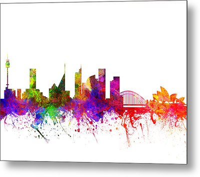 Sydney Australia Cityscape 02 Metal Print by Aged Pixel