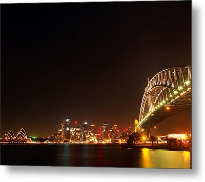 Sydney By Night Metal Print by Justin Woodhouse