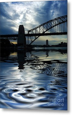 Sydney Harbour Bridge Reflection Metal Print by Avalon Fine Art Photography