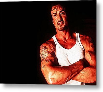 Sylvester Stallone Metal Print by Iguanna Espinosa
