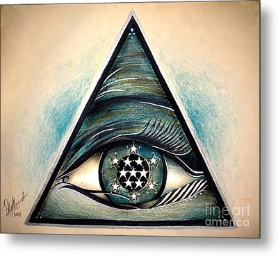 Symbol Of Creator Of The Universe. For Magical Protection Metal Print by Sofia Goldberg
