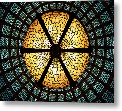 Symmetric Lights Metal Print by Matt Cangelosi