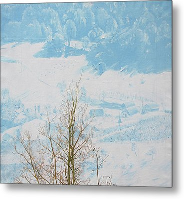 Symphony In The Snow Metal Print by Veronika Logar