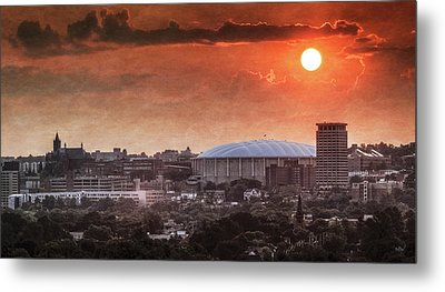Syracuse Sunrise Over The Dome Metal Print by Everet Regal