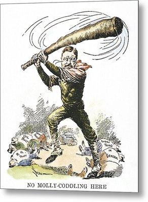 T. Roosevelt Cartoon, 1904 Metal Print by Granger