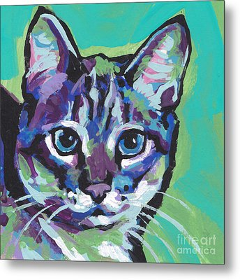 Tabby Chic Metal Print by Lea S