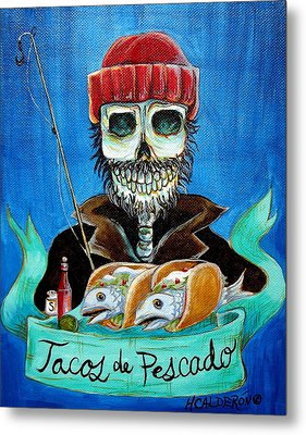 Tacos De Pescado Metal Print by Heather Calderon