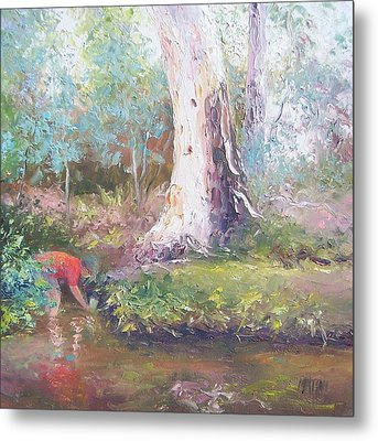 Tad Poling By The River Metal Print by Jan Matson
