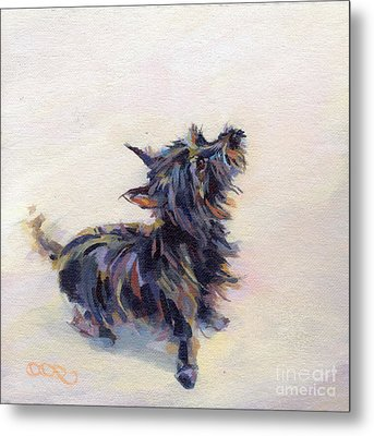 Tail Wagging Fury Metal Print by Kimberly Santini