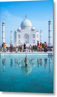 Taj Mahal  Metal Print by Nila Newsom