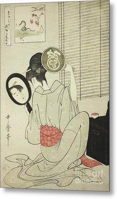 Takashima Ohisa Metal Print by Kitagawa Utamaro
