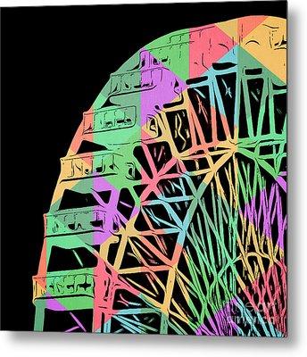 Take A Ride On The Ferris Wheel Metal Print by Edward Fielding