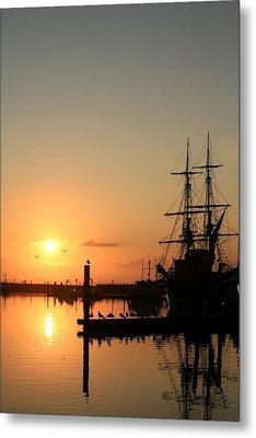 Tall Ship Lady Washington At Dawn Metal Print by Mike Coverdale