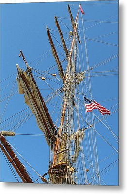 Tall Ship Series 8 Metal Print by Scott Hovind