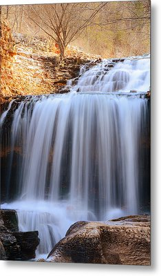 Tanyard Creek Waterfall Bella Vista Arkansas Metal Print by Lourry Legarde