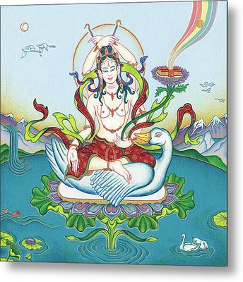 Tara Protecting Against Poisons And Naga-related Diseases Metal Print by Carmen Mensink