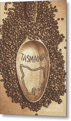 Tasmania Coffee Beans Metal Print by Jorgo Photography - Wall Art Gallery