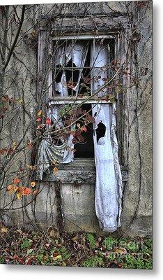 Tattered Curtain Fall '09 No.3 Metal Print by Sari Sauls