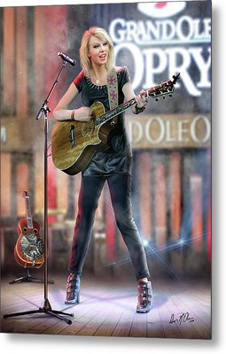 Taylor At The Opry Metal Print by Don Olea