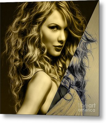 Taylor Swift Collection Metal Print by Marvin Blaine
