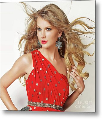 Taylor Swift Metal Print by Twinkle Mehta