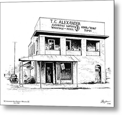 Tc Alexander Store Metal Print by Greg Joens