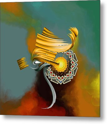 Tc Calligraphy 23 1  Metal Print by Team CATF