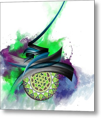 Tc Calligraphy 34 7  Metal Print by Team CATF