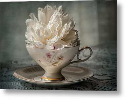 Tea Time Metal Print by Maggie Terlecki