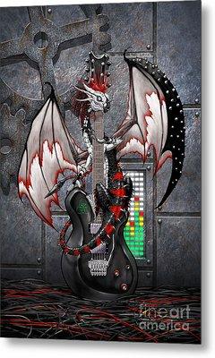Tech-n-dustrial Music Dragon Metal Print by Stanley Morrison