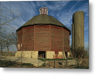 Teeple Barn, Built Circa 1885 By Dairy Metal Print by Ira Block