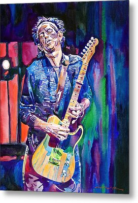 Telecaster- Keith Richards Metal Print by David Lloyd Glover