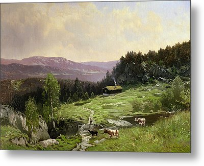 Telemark South Norway Metal Print by Ludvig Skramstad