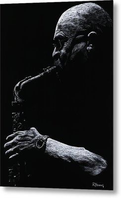 Temperate Sax Metal Print by Richard Young