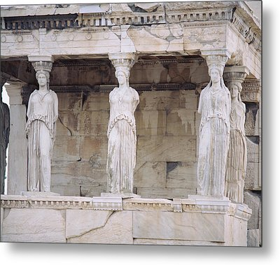 Temple Of Athena Nike Erectheum Metal Print by Panoramic Images