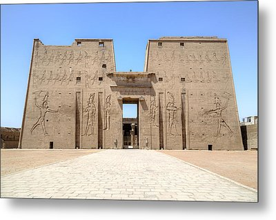 Temple Of Edfu - Egypt Metal Print by Joana Kruse