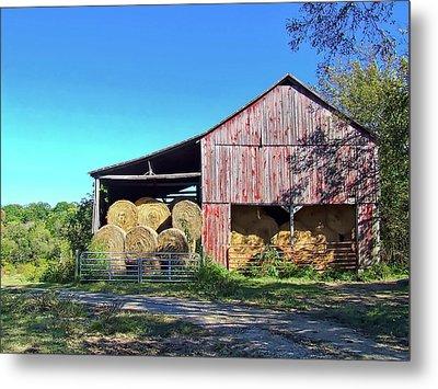 Tennessee Hay Barn Metal Print by Richard Gregurich